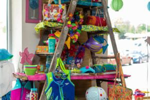Colorful Products at The Attic Resale Shop