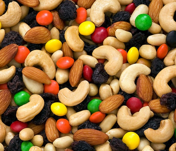 Sweat and Salty Trail Mix image - nuts and m&ms